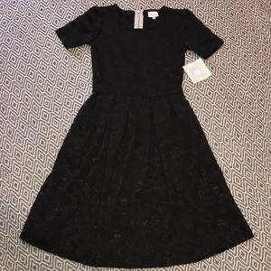 LuLaRoe Dresses - New✨Lularoe Amelia Elegant Black Floral Dress XXS